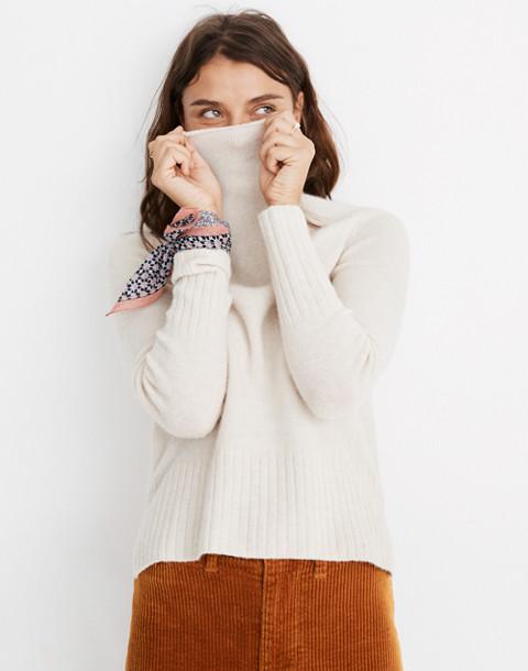 Inland Turtleneck Sweater in Coziest Yarn in hthr cement image 3