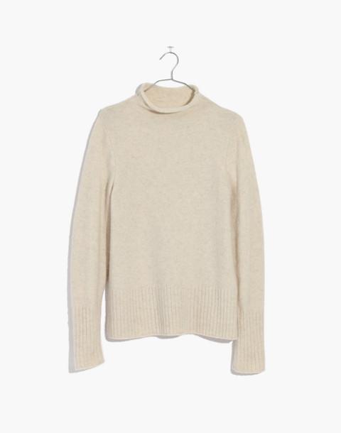 Inland Turtleneck Sweater in Coziest Yarn in hthr cement image 4
