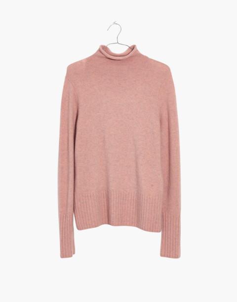 Inland Turtleneck Sweater in Coziest Yarn in heather dahlia image 4