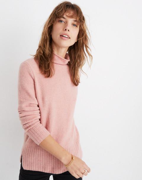 Inland Turtleneck Sweater in Coziest Yarn in heather dahlia image 1