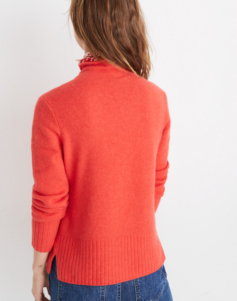 Inland Turtleneck Sweater in Coziest Yarn in salsa red image 3