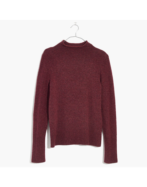 Inland Turtleneck Sweater in Coziest Yarn in hthr burgundy image 4