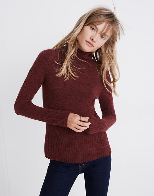 87febaef39 Inland Turtleneck Sweater in Coziest Yarn in hthr burgundy image 1
