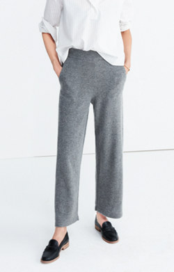 Wide-Leg Sweater Pants