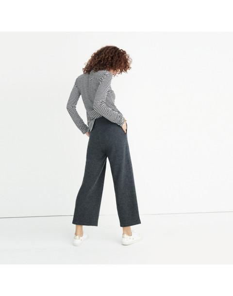 Wide-Leg Sweater Pants