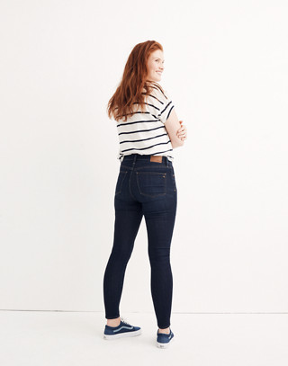 "Tall 9"" High-Rise Skinny Jeans in Larkspur Wash: Tencel™ Edition in larkspur image 3"