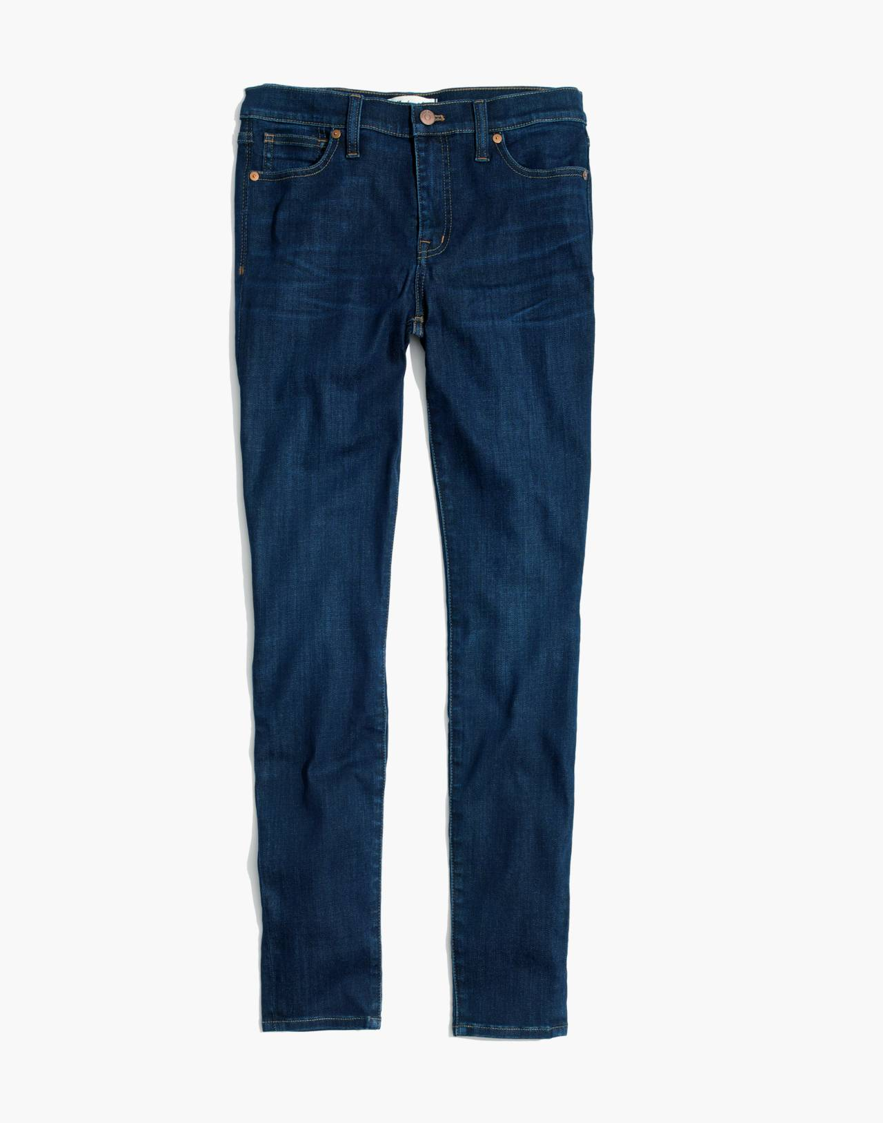 "Petite 9"" High-Rise Skinny Jeans in Larkspur Wash: Tencel™ Edition in larkspur image 4"