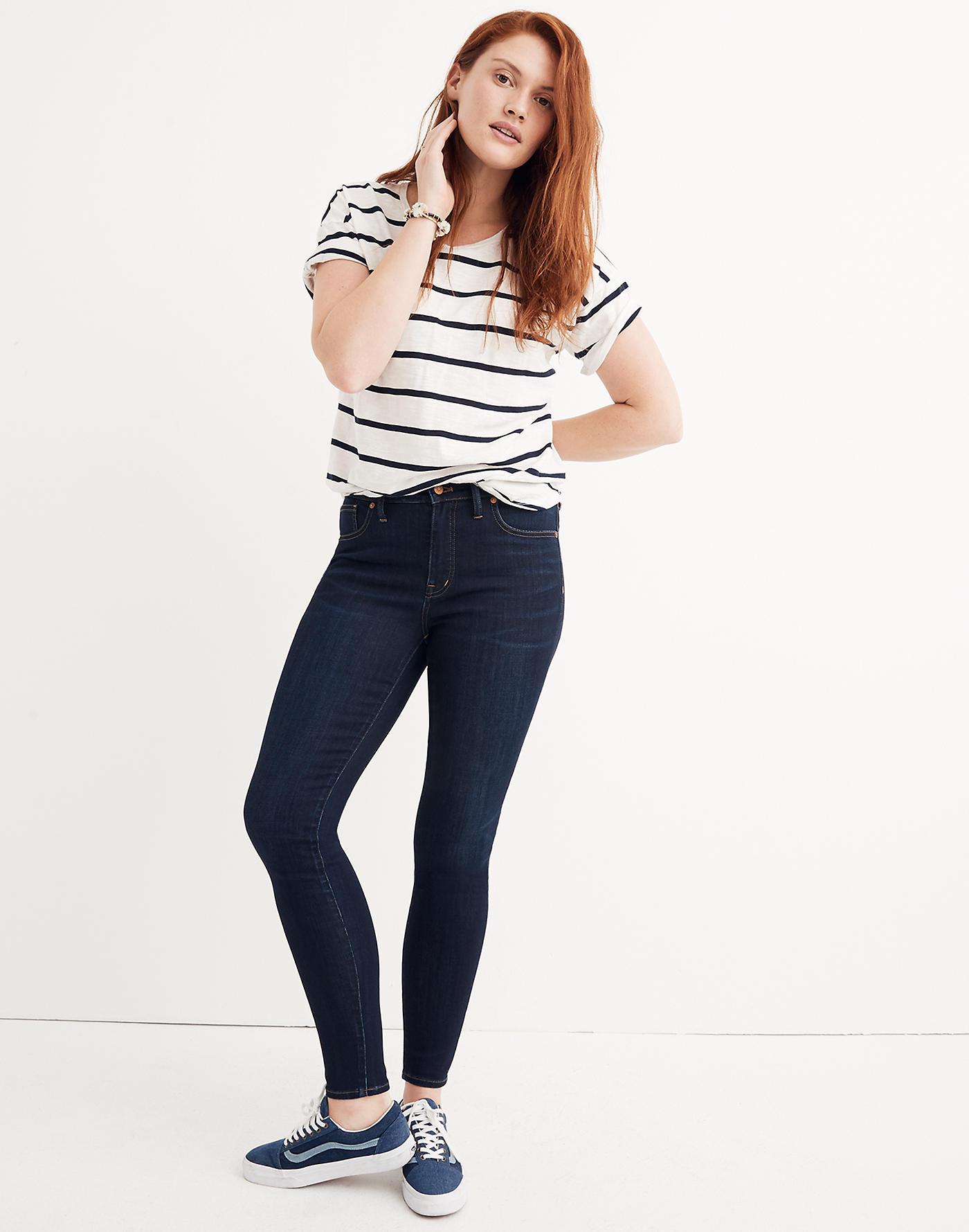 Madewell 9 Mid-Rise Skinny Jeans in Larkspur Wash: TENCEL Denim Edition