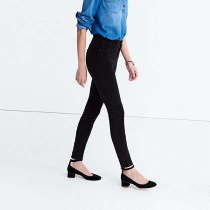 "9"" High-Rise Skinny Jeans in Velvet"