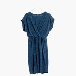 Wrap-Front Mini Dress in Brushstroke Diamond