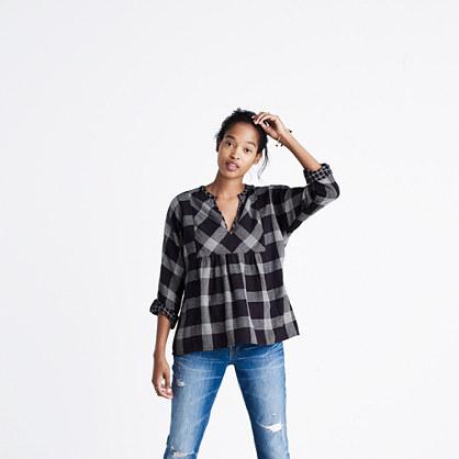 boh me popover shirt in hayden plaid tops blouses madewell. Black Bedroom Furniture Sets. Home Design Ideas