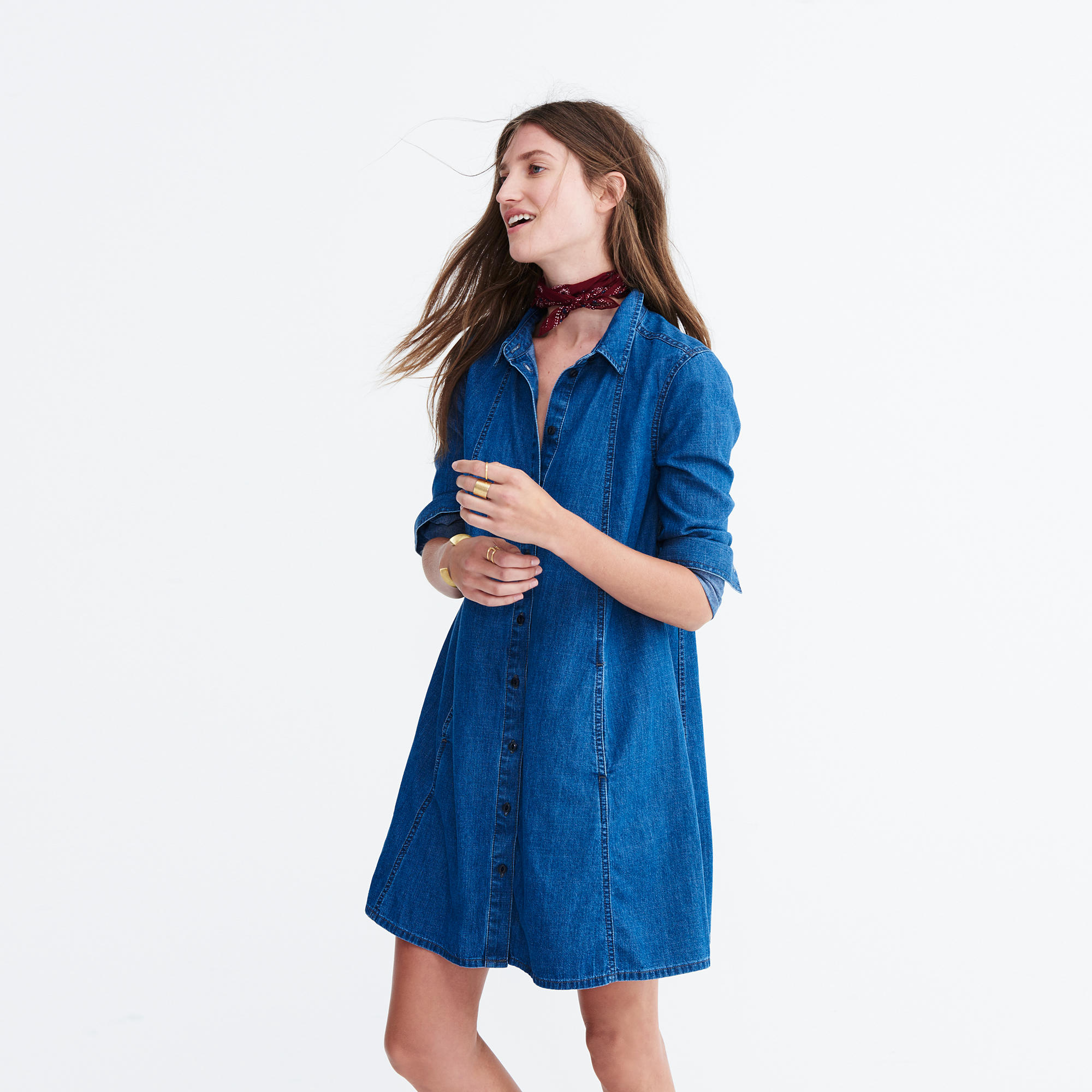 Denim A-Line Shirtdress : overalls & more denim | Madewell