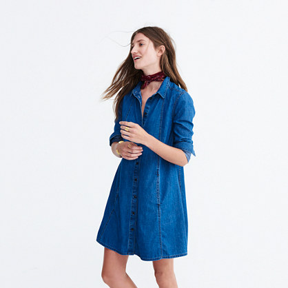 Denim A-Line Shirtdress