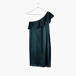 Silk Dancefloor One-Shoulder Dress