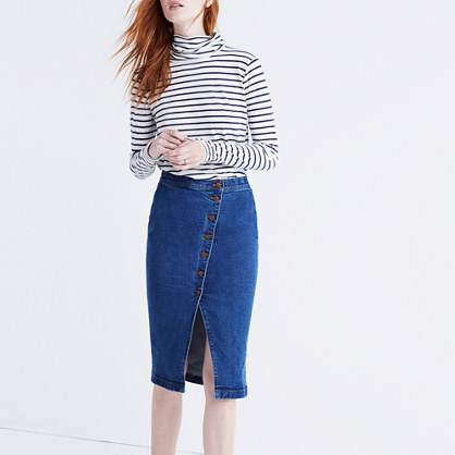 Asymmetrical Jean Skirt