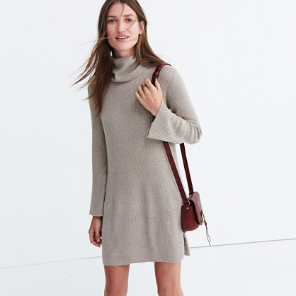 Bell-sleeve Turtleneck Sweater-Dress : casual dresses | Madewell