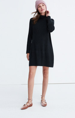 Bell-sleeve Turtleneck Sweater-Dress
