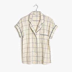 Flannel Bedtime Pajama Top in Windowpane