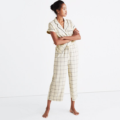 Flannel Bedtime Pajama Top in Windowpane