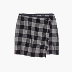Plaid Academy Wrap Skirt
