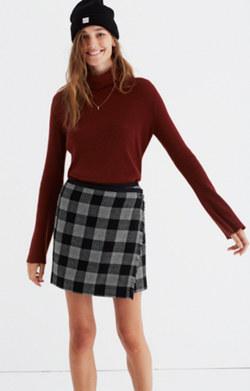 Plaid Academy Wrap Skirt