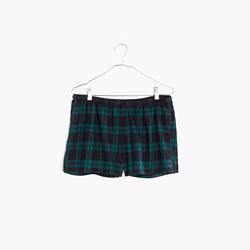 Flannel Bedtime Pajama Shorts in Dark Plaid