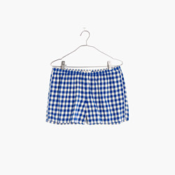 Flannel Bedtime Pajama Shorts in Gingham Check