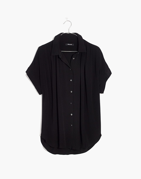 Central Drapey Shirt in true black image 4