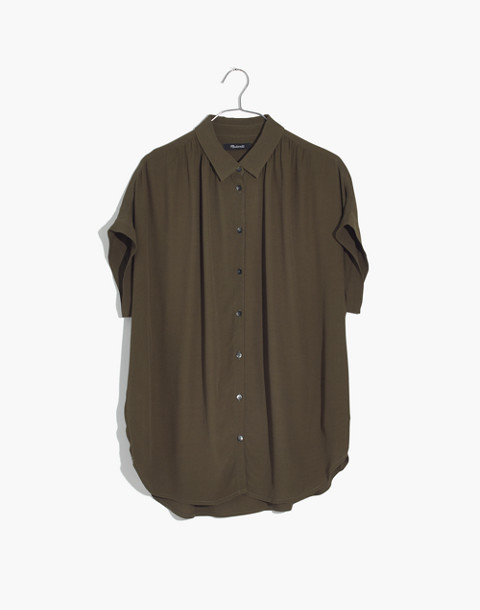 Central Drapey Shirt in kale image 1
