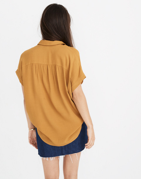 Central Drapey Shirt in egyptian gold image 2