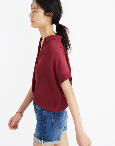 Central Drapey Shirt in dusty burgundy image 2