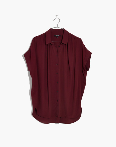 Central Drapey Shirt in dusty burgundy image 4
