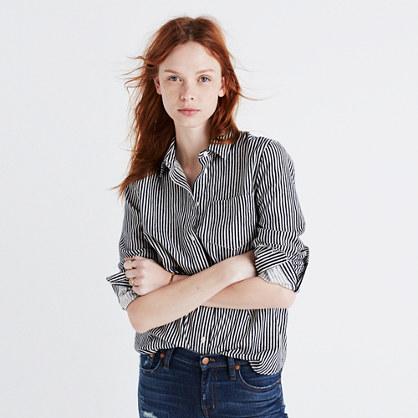 Flannel Shrunken Ex-Boyfriend Shirt in Stripe