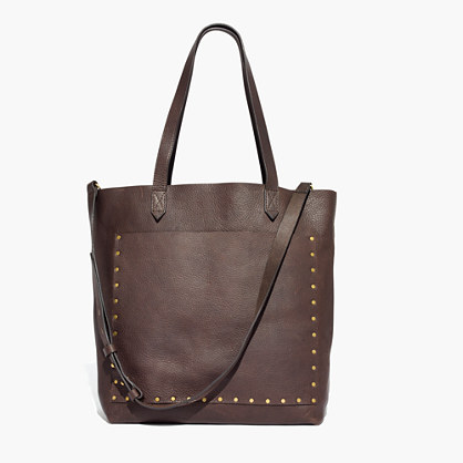 The Medium Transport Tote: Studded Edition