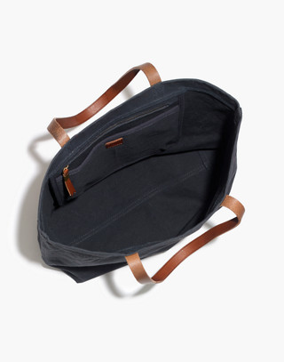 The Canvas Transport Tote in black sea image 3