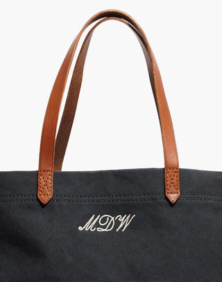 The Canvas Transport Tote in black sea image 4