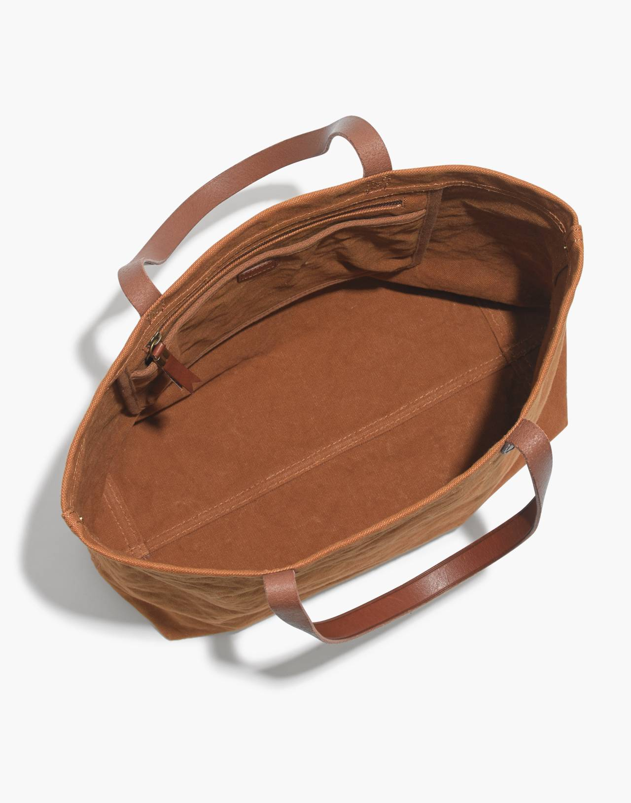 The Canvas Transport Tote in acorn image 3