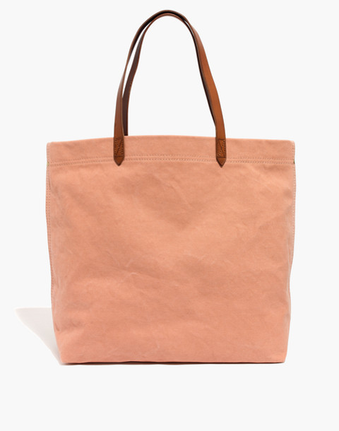 The Canvas Transport Tote in antique coral image 1