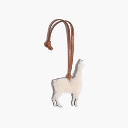 Shearling Llama Bag Tag
