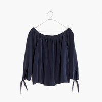 Silk Off-the-Shoulder Top