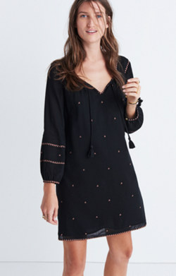Embroidered Signal Dress