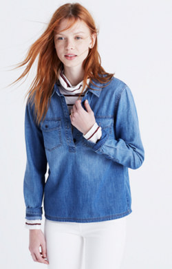 Denim Pocket Popover Shirt