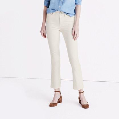 Cali Demi-Boot Jeans in Off White