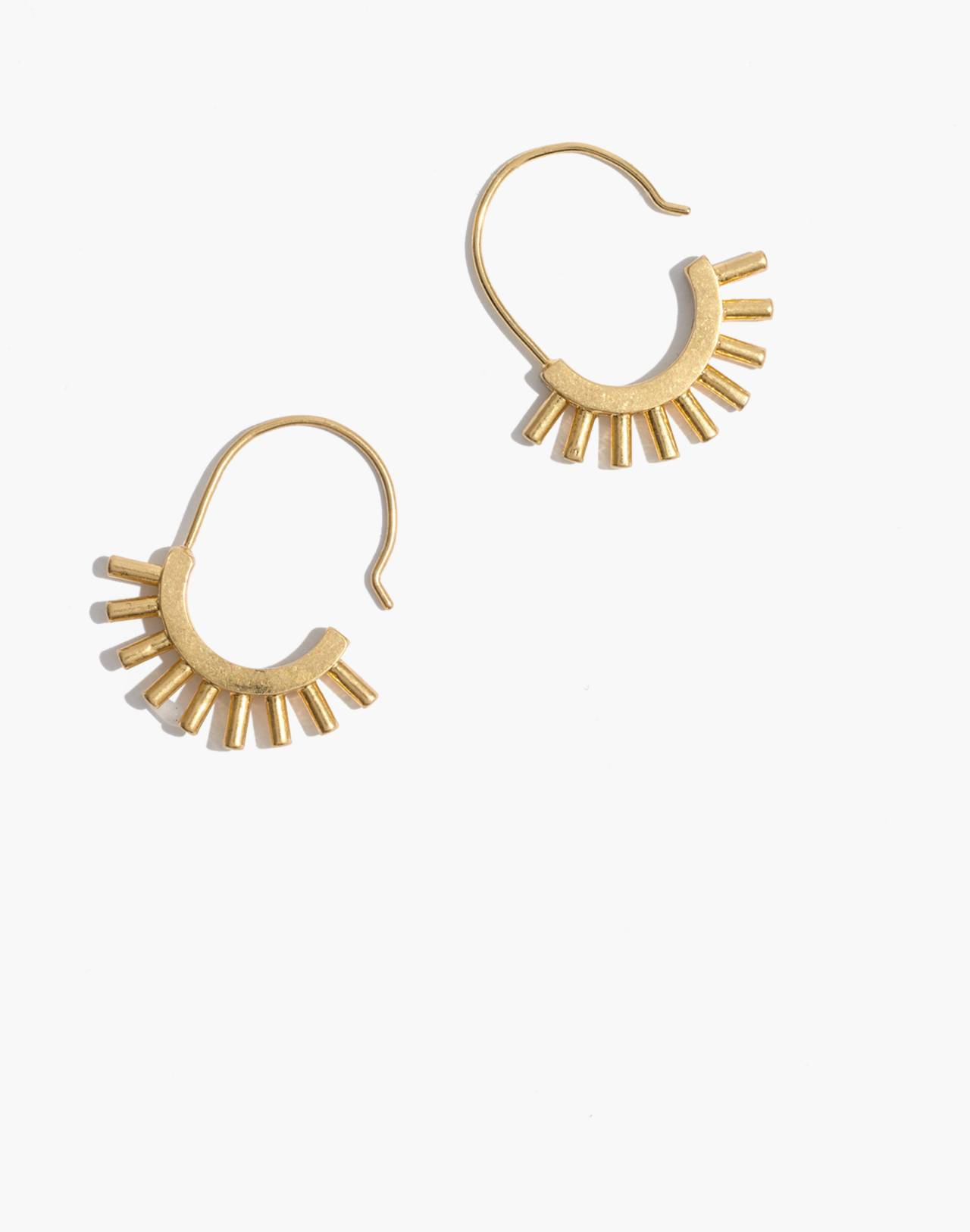 Succulent Earrings in gold ox image 1