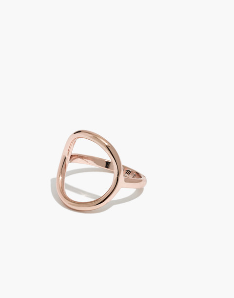 Ceremony Circle Ring in rose gold image 1