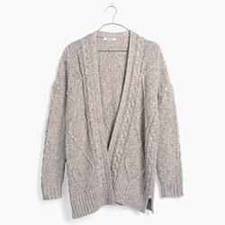 Cableknit Cardigan Sweater