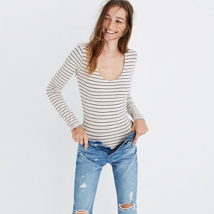 Song Scoop Bodysuit in Pierre Stripe