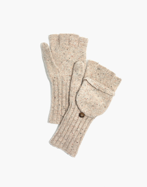 Convertible Ribbed Gloves in desert image 1