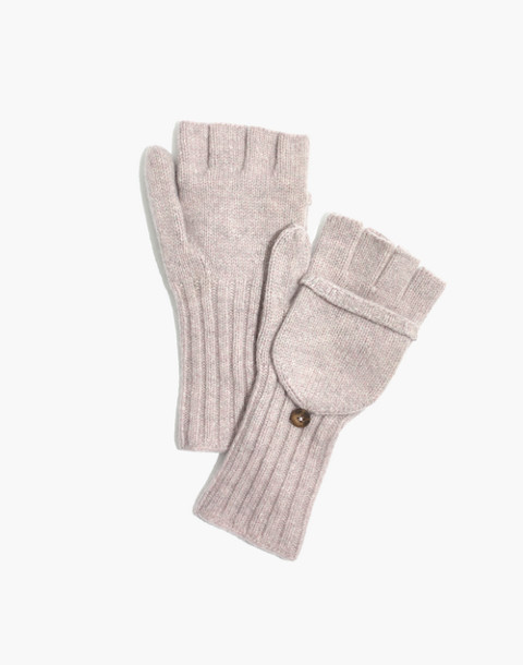 Convertible Ribbed Gloves in wisteria dove image 1