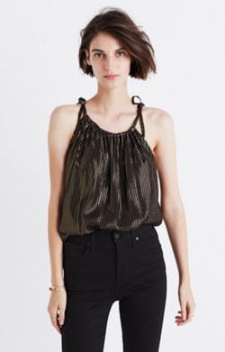 Metallic Striped Cami Top